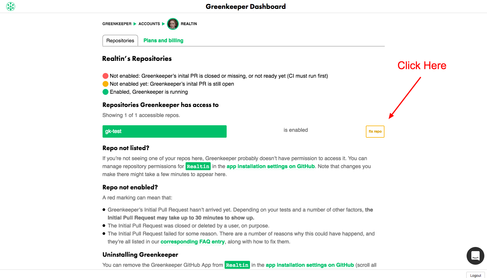 Greenkeeper | Documentation